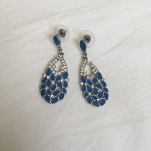 Jewelry - Blue and Silver Dangle Earrings